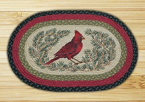 Oval Patch Cardinal Braided Earth Rug®