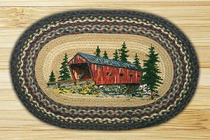 Oval Patch Covered Bridge Braided Earth Rug®