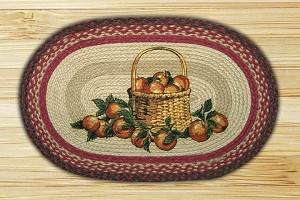 Oval Patch Apple Basket Braided Earth Rug®