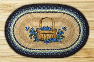 Oval Patch Blueberry Basket Braided Earth Rug®