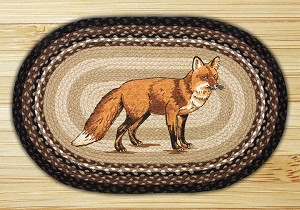 Oval Patch Fox Braided Earth Rug®