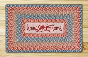 Rectangle Print Patch Home Sweet Home Braided Earth Rug®