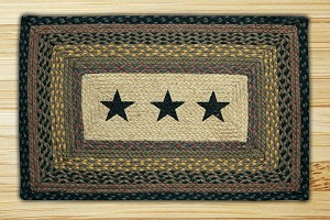 Rectangle Print Patch Stars Braided Earth Rug®