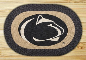 Oval Patch Penn State Nittany Lions Collegiate Braided Earth Rug®
