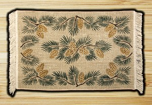 Wicker Weave Hand Print Pinecone Jute Braided Earth Rug®