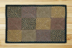 Rectangle Quilt Patch Brown Black and Charcoal Jute Braided Earth Rug® 2