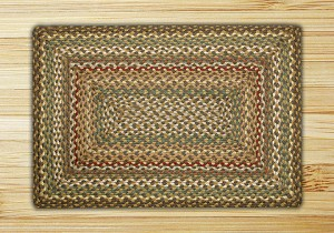 Rectangle Fir and Ivory Jute Braided Earth Rug®