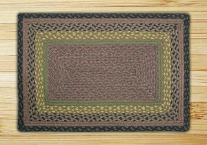 Rectangle Brown Black and Charcoal Jute Braided Earth Rug®
