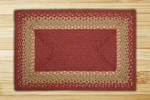 Rectangle Burgundy Maroon and Sunflower Jute Braided Earth Rug®