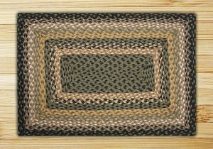 Rectangle Black Mustard and Creme Jute Braided Earth Rug®