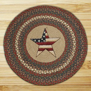 Round 27 Inch Print Patch All American Star Braided Earth Rug®