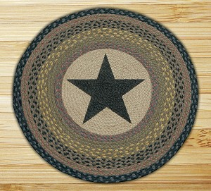 Round 27 Inch Print Patch Star Braided Earth Rug®