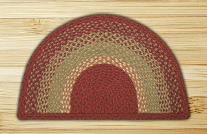Rug Slice Burgundy Maroon and Sunflower Jute Braided Earth Rug®