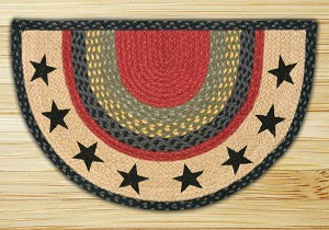Rug Slice Stars Jute Braided Earth Rug®