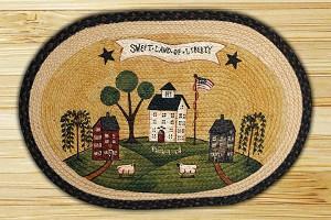 Oval Art Patch Sweet Land of Liberty Braided Earth Rug®