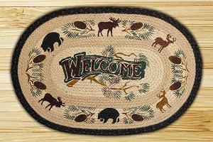 Oval Art Patch Welcome Lodge Braided Earth Rug®