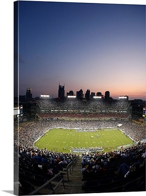Nashville, Tennessee Game Night at LP Field Panorama Picture