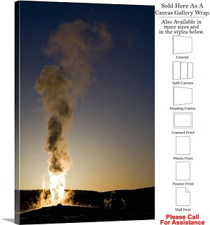 "Yellowstone National Park Old Faithful Wyoming-2 Canvas Wrap 20"" x 30"""