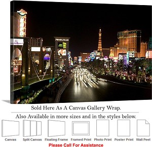 "Las Vegas The Strip American Landmark in Nevada-71 Canvas Wrap 30"" x 20"""