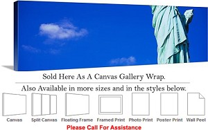 "Statue of Liberty an American Landmark New York-43 Canvas Wrap 48"" x 16"""