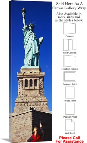 "Statue of Liberty an American Landmark New York-36 Canvas Wrap 16"" x 48"""