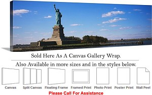 "Statue of Liberty an American Landmark New York-37 Canvas Wrap 48"" x 16"""