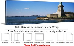 "Statue of Liberty an American Landmark New York-42 Canvas Wrap 48"" x 16"""