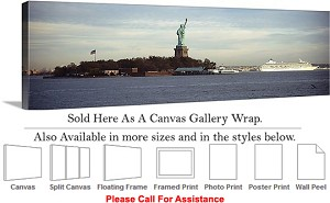 "Statue of Liberty an American Landmark New York-25 Canvas Wrap 48"" x 16"""