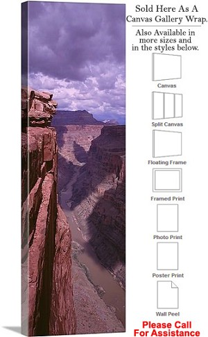 "Grand Canyon National Park in Arizona Landscape-44 Canvas Wrap 15"" x 48"""