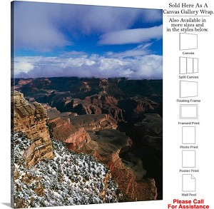 "Grand Canyon National Park in Arizona Landscape-91 Canvas Wrap 19"" x 24"""