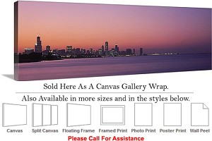 "Sears Tower American Landmark Chicago Illinois-33 Canvas Wrap 48"" x 16"""