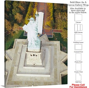 "Statue of Liberty an American Landmark New York-41 Canvas Wrap 19"" x 24"""