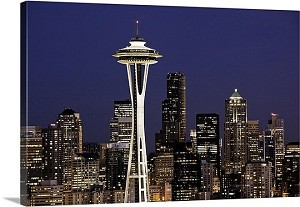 Seattle, Washington Space Needle Panorama Picture