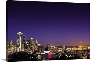 Seattle, Washington Space Needle Skyline Panorama Picture