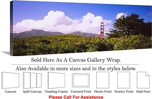 "Golden Gate Bridge at San Francisco California-144 Canvas Wrap 48"" x 17"""