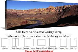 "Grand Canyon National Park in Arizona Landscape-59 Canvas Wrap 48"" x 16"""