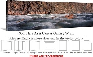 "Grand Canyon National Park in Arizona Landscape-53 Canvas Wrap 48"" x 16"""