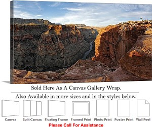 "Grand Canyon National Park in Arizona Landscape-18 Canvas Wrap 36"" x 17"""
