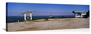 Overhead cable car on Stone Mountain Atlanta Georgia Panoramic Picture