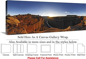 "Grand Canyon National Park in Arizona Landscape-45 Canvas Wrap 48"" x 17"""