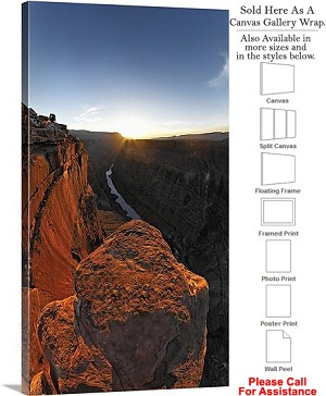"Grand Canyon National Park in Arizona Landscape-76 Canvas Wrap 17"" x 30"""