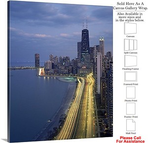 "Sears Tower American Landmark Chicago Illinois-10 Canvas Wrap 19"" x 24"""