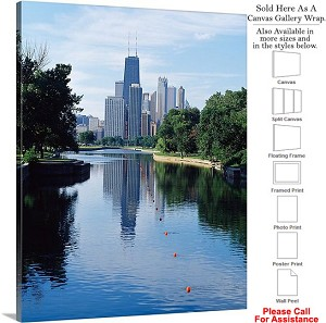"Sears Tower American Landmark Chicago Illinois-50 Canvas Wrap 19"" x 24"""