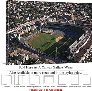 "Wrigley Field America Landmark Chicago Illinois-13 Canvas Wrap 30"" x 20"""