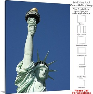 "Statue of Liberty an American Landmark New York-7 Canvas Wrap 23"" x 30"""