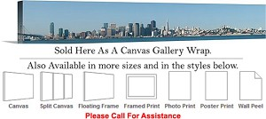 "Golden Gate Bridge at San Francisco California-146 Canvas Wrap 72"" x 14"""