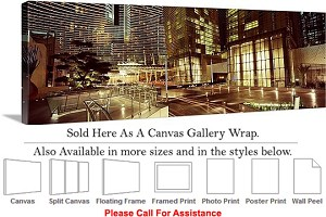 "Las Vegas The Strip American Landmark in Nevada-59 Canvas Wrap 48"" x 16"""