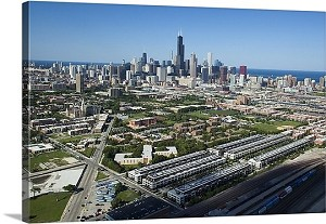 Chicago, Illinois Cook County Panorama Picture