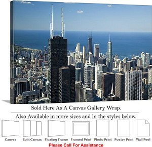 "Sears Tower American Landmark Chicago Illinois-60 Canvas Wrap 30"" x 20"""