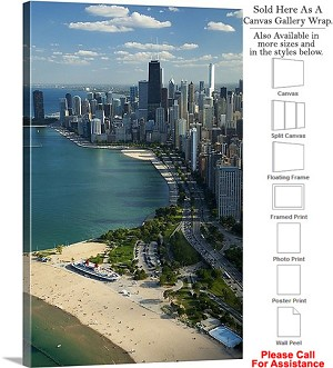 "Sears Tower American Landmark Chicago Illinois-20 Canvas Wrap 20"" x 30"""